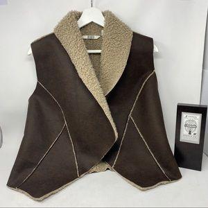BB Dakota Faux Leather Vest Jacket, Sz 8